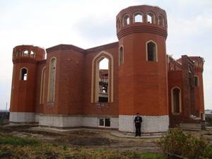 Строящаяся мечеть с. Шыгырданы